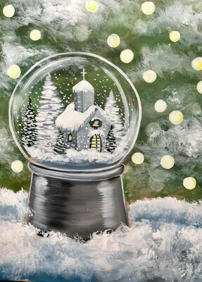In Studio - Dreaming of a White Christmas painting