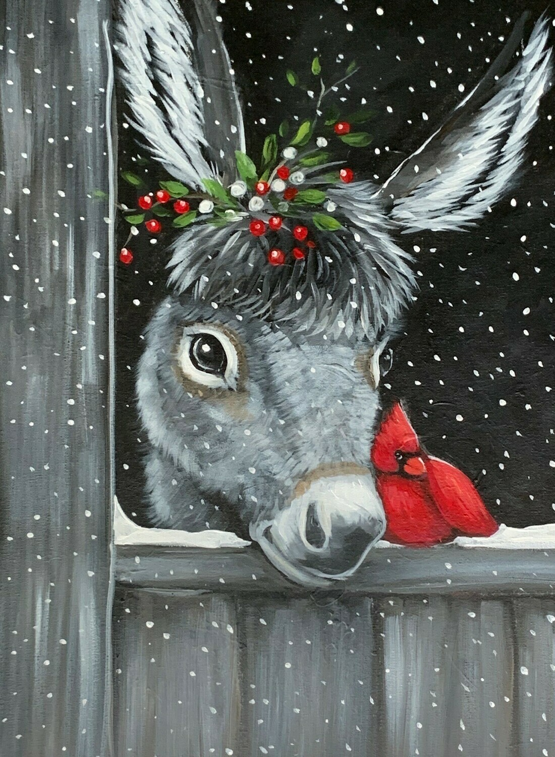 In Studio - Dominick the Donkey Painting