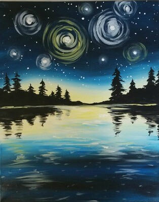 In Studio or Take Home Kit - Magical Evening painting