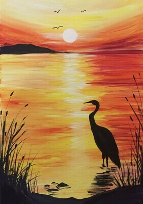 In Studio or Take Home Kit - Sunset painting