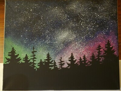 In Studio or Take Home - Galaxy painting