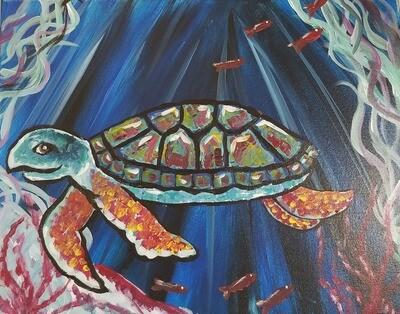 Sadie the Sea Turtle painting