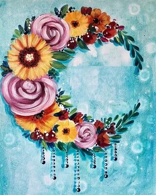 Boho Moon painting