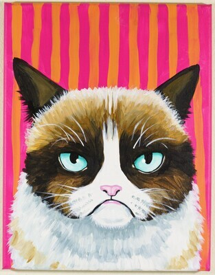 Kranky Kitty painting