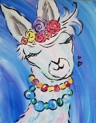 Dolly the Llama Painting