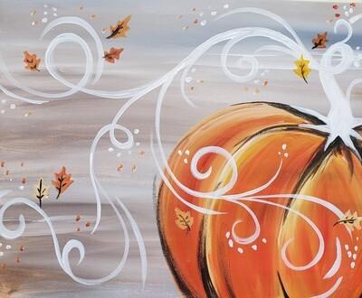 Swirly Pumpkin Painting