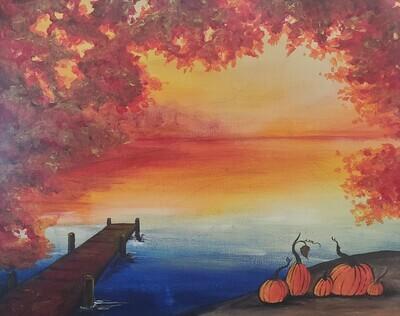 Fall Lake View Painting