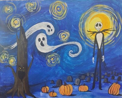 Jack's Starry Night Painting