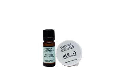 1stAid2Go Combo - Tea Tree Essential oil & Res-Q Antiseptic balm