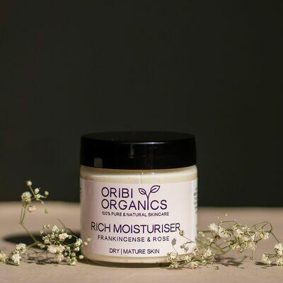 Rich Moisturiser - Frankincense & Roses - 220g