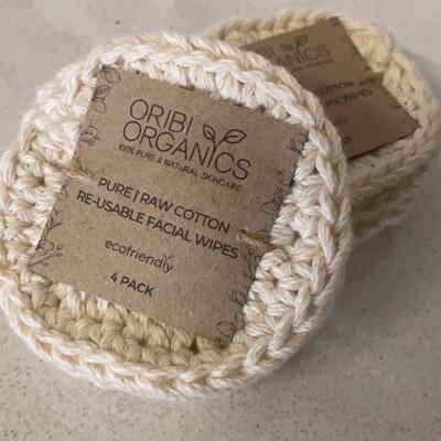 Eco Cotton Facial Wipes (set of 4)
