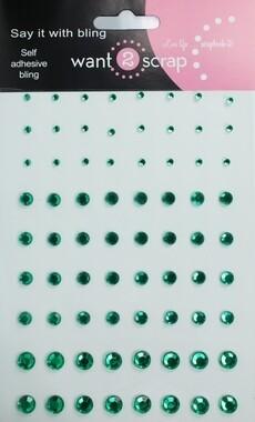 Dark Green rhinestones