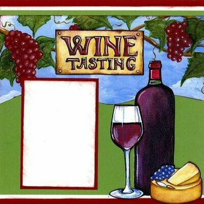 Wine tasting page layout kit