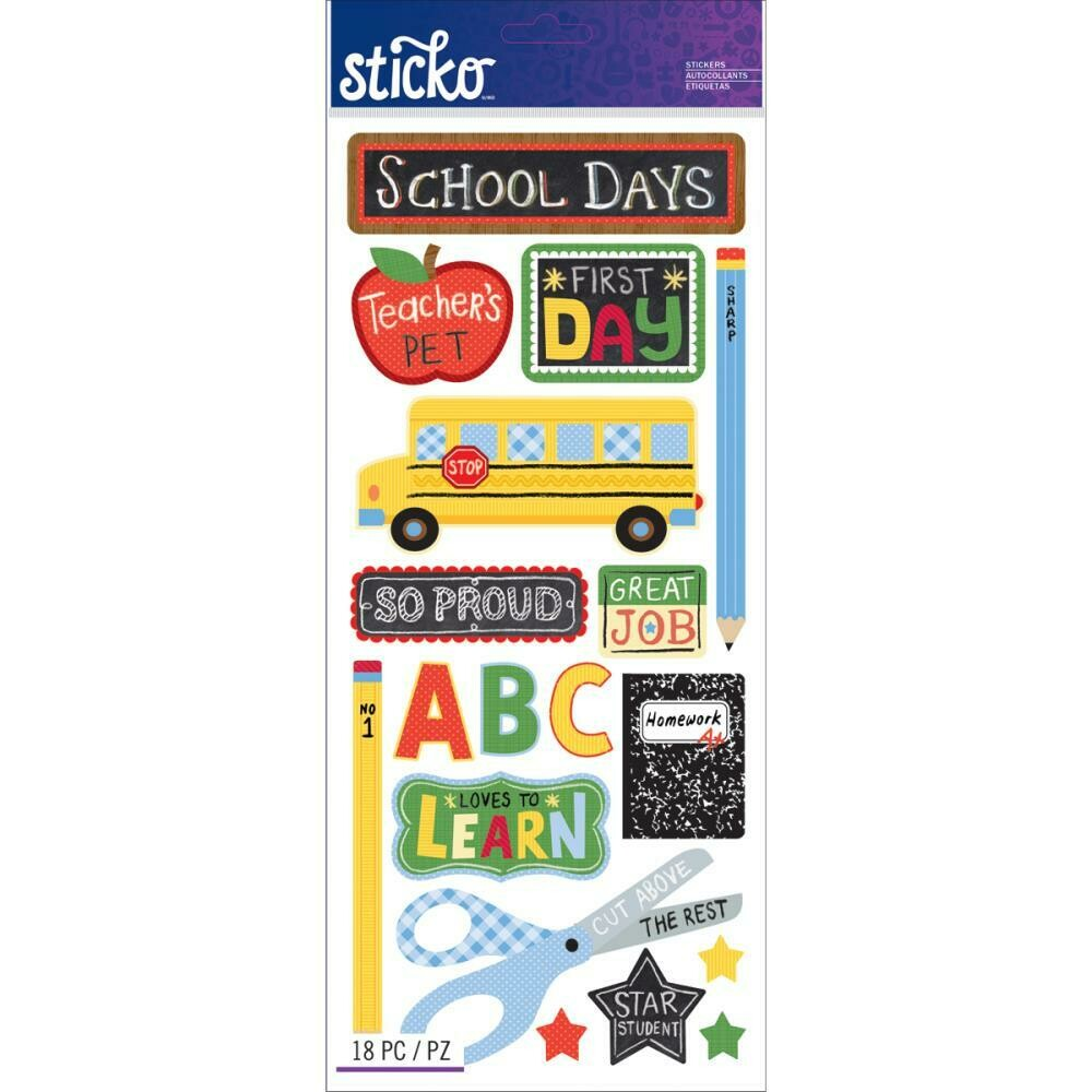School days stickers
