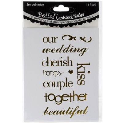 Foil Wedding Word Stickers