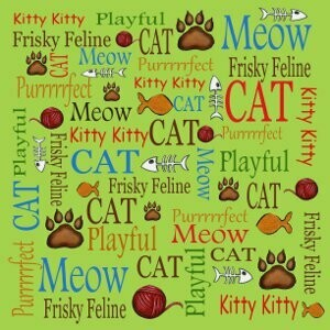 Kitty Words Cardstock
