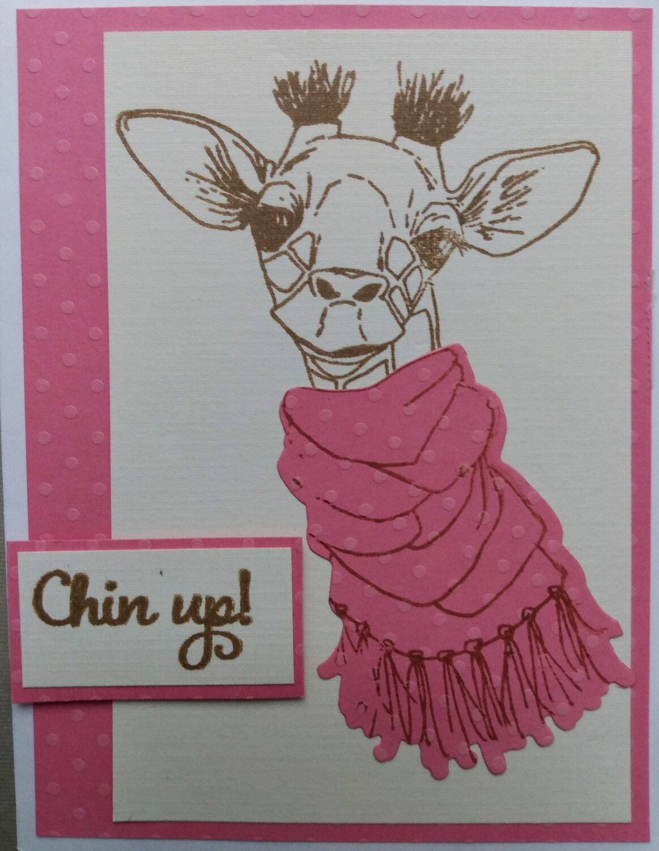 Giraffe in Pink card kit