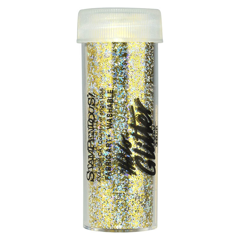 Gold fine glitter from Stampendous