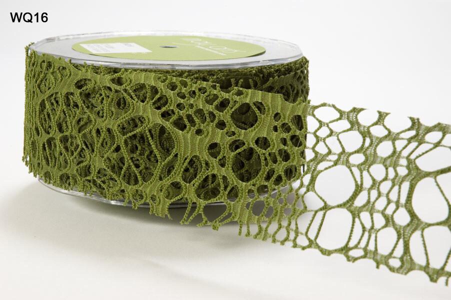 """2"""" Olive Web Ribbon"""