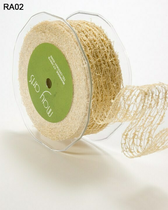 1.5 Inch Wired Textured Net Ribbon