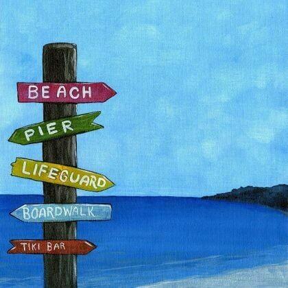 Shore Life Sign Post