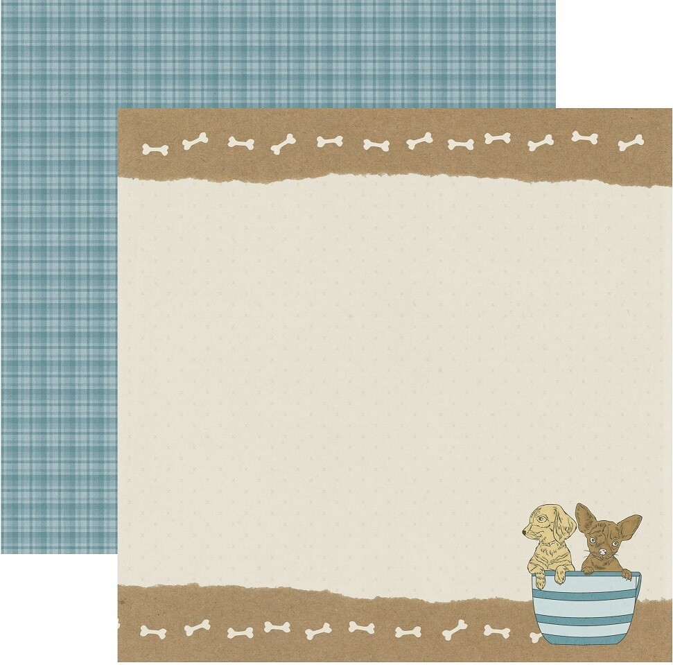 Dog double sided paper