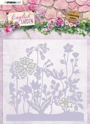English Garden Embossing Folder With Die Cut