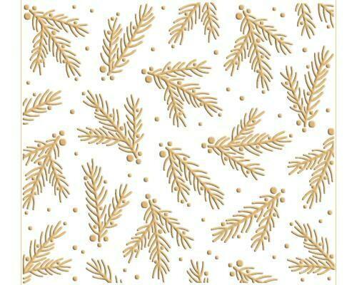 Pine Branch Embossing Folder