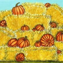 Pumpkins in the Hay