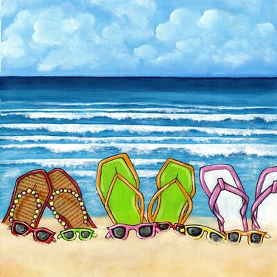 South Beach Flip Flops