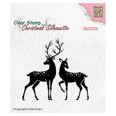 Christmas Silhouette Deer