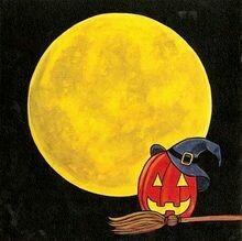 Halloween Moon Scrapbook Layout Kit