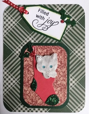 Kitten Stocking Card Kit