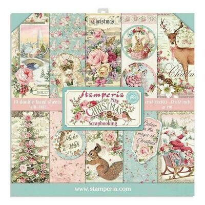 Pink Christmas Paper Pad