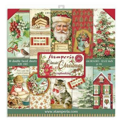 Classic Christmas Paper Pad