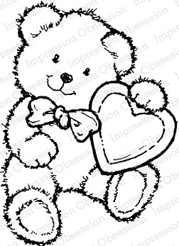 Bear With Heart Stamp