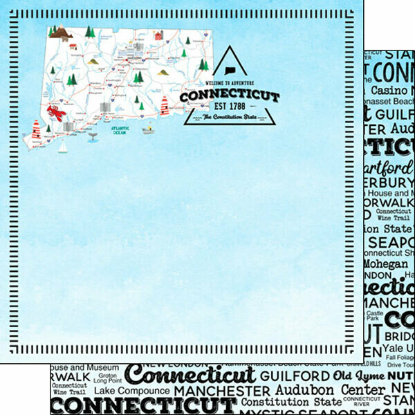 Connecticut Postage Map