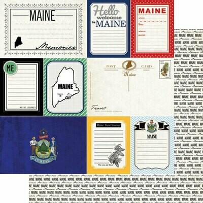 Maine vintage Travel Journal