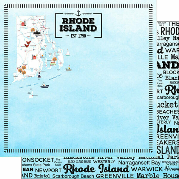 Rhode Island Postage Map