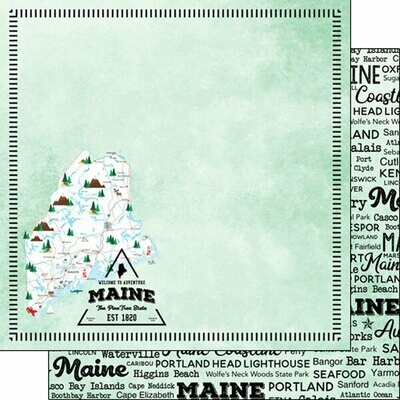 Maine Postage Map