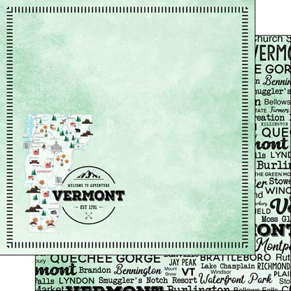 Vermont Postage Map