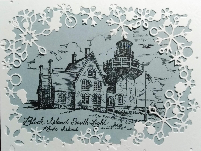 Block Island Winter Scene Card