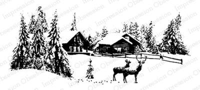 Winter Scene Cling Stamop