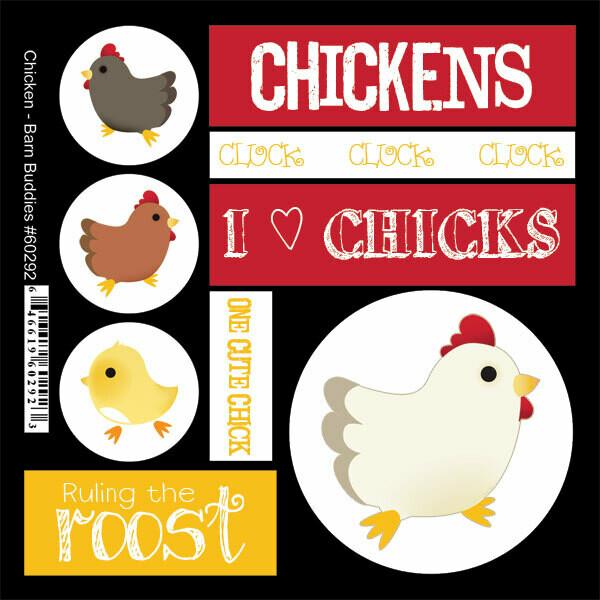 Chicken Barn Buddies Sticker