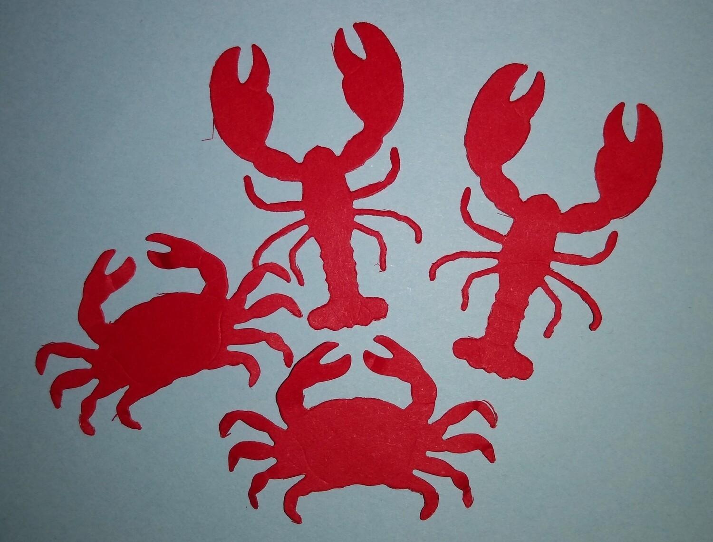 Lobster and Crab Die Cuts