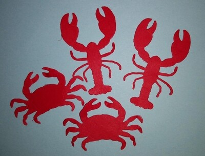 Lobster and Crab Die Cuts