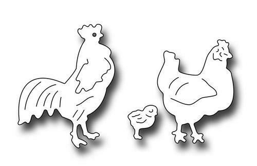 Rooster Hen & Chick Dies