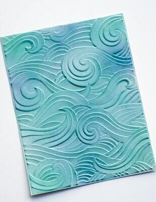 Waves 3D Embossing Folder