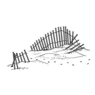 Beach Fence Stamp