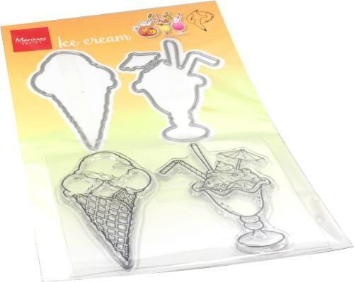 Ice Cream Stamp and Die Set